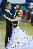 Μινσκ-Λευκορωσία, στις 5 Οκτωβρίου 2014: Μη αναγνωρισμένος επαγγελματικός χορός Στοκ Φωτογραφία
