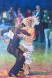 Μινσκ-Λευκορωσία, στις 18 Οκτωβρίου 2014: Μη αναγνωρισμένο ζεύγος Perfo χορού Στοκ εικόνα με δικαίωμα ελεύθερης χρήσης
