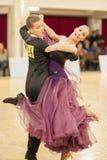 ΜΙΝΣΚ-ΛΕΥΚΟΡΩΣΙΑ, 7 ΑΠΡΙΛΙΟΥ: Το μη αναγνωρισμένο ζεύγος χορού εκτελεί Yout Στοκ Εικόνα