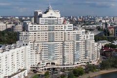 ΜΙΝΣΚ, ΛΕΥΚΟΡΩΣΙΑ - 15 ΑΥΓΟΎΣΤΟΥ 2016: Εναέρια άποψη του νότιου μέρους του Μινσκ Στοκ Φωτογραφία