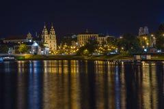 Μινσκ τη νύχτα Στοκ Εικόνες