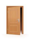 μισάνοιχτη πόρτα διανυσματική απεικόνιση