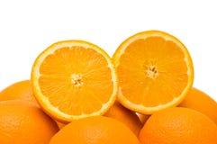 μισά πορτοκάλια δύο αποκ&omi Στοκ φωτογραφία με δικαίωμα ελεύθερης χρήσης