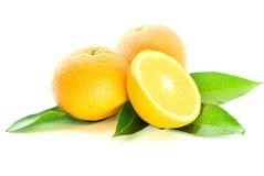 μισά πορτοκάλια δύο Στοκ εικόνες με δικαίωμα ελεύθερης χρήσης