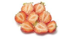 Μισές φράουλες Στοκ Εικόνες