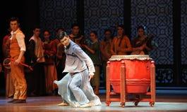 Μισήστε την τυμπανιστής-τρίτη πράξη των γεγονότων δράμα-Shawan χορού του παρελθόντος Στοκ Εικόνες