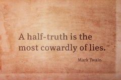 Μισή αλήθεια Twain στοκ εικόνα