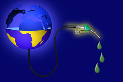 Μισή διαφανής σφαίρα που δείχνει ότι οι πόροι πετρελαίου είναι κενοί Διανυσματική απεικόνιση