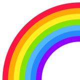 Μισή μορφή τόξων ουράνιων τόξων, κύκλος τετάρτων, φωτεινά χρώματα φάσματος, ζωηρόχρωμο ριγωτό σχέδιο διανυσματική απεικόνιση