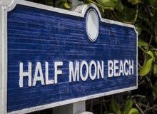 Μισή παραλία φεγγαριών, ΗΠΑ Στοκ φωτογραφία με δικαίωμα ελεύθερης χρήσης