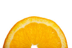 μισή πορτοκαλιά φέτα στοκ εικόνα