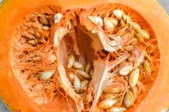 Μισή πορτοκαλιά κολοκύθα Στοκ Φωτογραφίες