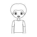 Μισή σκιαγραφία παιδιών σωμάτων με την μπλούζα Στοκ Εικόνα