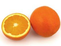 μισός πορτοκαλής Στοκ Εικόνες