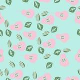 Μισό άνευ ραφής σχέδιο αχλαδιών, σημεία, σιτάρια, φύλλα συρμένο χέρι απεικόνιση αποθεμάτων