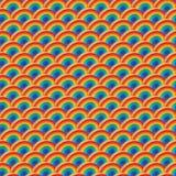 Μισό άνευ ραφής σχέδιο συμμετρίας χρώματος ουράνιων τόξων κύκλων τρισδιάστατο απεικόνιση αποθεμάτων