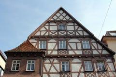 Μισό-εφοδιασμένο με ξύλα παλαιό σπίτι σε Aalen, Γερμανία Στοκ φωτογραφία με δικαίωμα ελεύθερης χρήσης