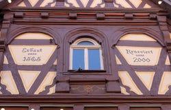 Μισό-εφοδιασμένο με ξύλα παλαιό σπίτι σε Aalen, Γερμανία Στοκ εικόνα με δικαίωμα ελεύθερης χρήσης