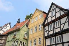 Μισό-εφοδιασμένα με ξύλα σπίτια Στοκ φωτογραφία με δικαίωμα ελεύθερης χρήσης