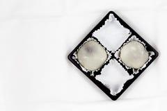 Μισό πακέτο άσπρου Mochi Στοκ φωτογραφία με δικαίωμα ελεύθερης χρήσης