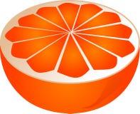 μισό πορτοκάλι Στοκ φωτογραφία με δικαίωμα ελεύθερης χρήσης