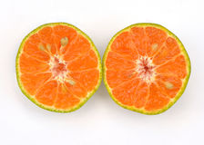 μισό πορτοκάλι αποκοπών Στοκ Φωτογραφίες