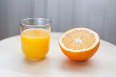 μισό πορτοκάλι Στοκ εικόνες με δικαίωμα ελεύθερης χρήσης
