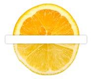 Μισό πορτοκαλί μισό λεμόνι Στοκ Εικόνες