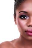 Μισό πρόσωπο γυναικών ομορφιάς Στοκ φωτογραφία με δικαίωμα ελεύθερης χρήσης