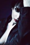 Μισό πρόσωπο της γυναίκας brunette Στοκ εικόνα με δικαίωμα ελεύθερης χρήσης