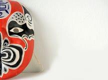 Μισό πρόσωπο της ιαπωνικής μάσκας θεάτρων Στοκ εικόνες με δικαίωμα ελεύθερης χρήσης