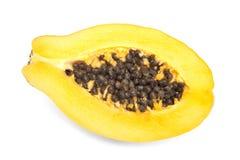 μισό papaya λευκό Στοκ Φωτογραφία