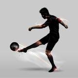 Μισό volley ποδοσφαιριστών στοκ εικόνες