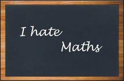 Μισώ τα μαθηματικά Στοκ εικόνες με δικαίωμα ελεύθερης χρήσης