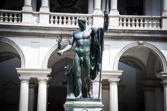 Μιλάνο, ακαδημία Brera και στοά Άγαλμα Napoleon Στοκ φωτογραφία με δικαίωμα ελεύθερης χρήσης