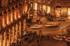 Μιλάνο, Ιταλία: εναέρια άποψη του τετραγώνου καθεδρικών ναών, Piazza del Duomo Στοκ Εικόνες
