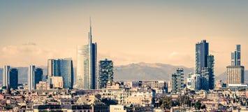 Μιλάνο Ιταλία, ορίζοντας στοκ εικόνα