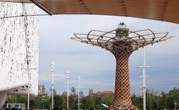 Μιλάνο, Ιταλία - 8 Σεπτεμβρίου 2015 EXPO Μιλάνο 2015 Δέντρο του λι Στοκ Εικόνες