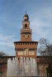 Μιλάνο Ιταλία το παλαιό Castle αποκαλούμενο Castello Sforzesco Στοκ εικόνα με δικαίωμα ελεύθερης χρήσης