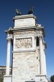 Μιλάνο (Ιταλία): Arco ρυθμός della Στοκ Εικόνα