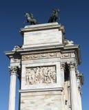 Μιλάνο (Ιταλία): Arco ρυθμός della Στοκ Φωτογραφίες