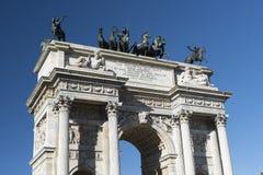 Μιλάνο (Ιταλία): Arco ρυθμός della Στοκ εικόνα με δικαίωμα ελεύθερης χρήσης