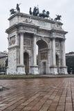 Μιλάνο Ιταλία: Arco ρυθμός della Στοκ φωτογραφίες με δικαίωμα ελεύθερης χρήσης