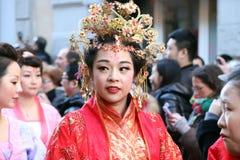 Μιλάνο, Μιλάνο, κινεζικό νέο year'eve Στοκ Εικόνα