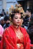 Μιλάνο, Μιλάνο, κινεζικό νέο year'eve Στοκ Φωτογραφίες