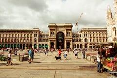 Μιλάνο - πλατεία Duomo στοκ εικόνες