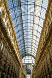 Μιλάνο, Galleria Vittorio Emanuele ΙΙ στοκ εικόνα με δικαίωμα ελεύθερης χρήσης