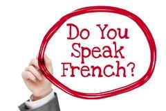 Μιλάτε τα γαλλικά Στοκ Εικόνες