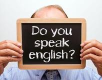 Μιλάτε το αγγλικό σημάδι Στοκ εικόνες με δικαίωμα ελεύθερης χρήσης