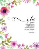 Μιλά με τις παροιμίες 31 φρόνησης την τυπωμένη ύλη Διανυσματική απεικόνιση